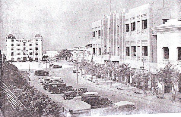 Paseo Bolívar, centro del comercio y negocios de la antigua Barranquilla.