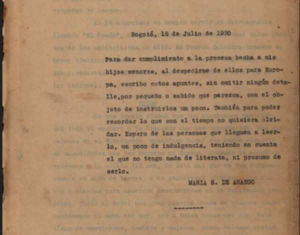 Propósito del diario, Panamá (1928)