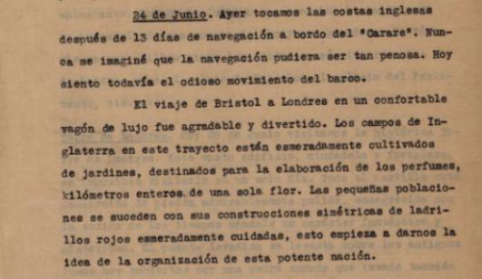 Costas inglesas, 24 de junio 1930