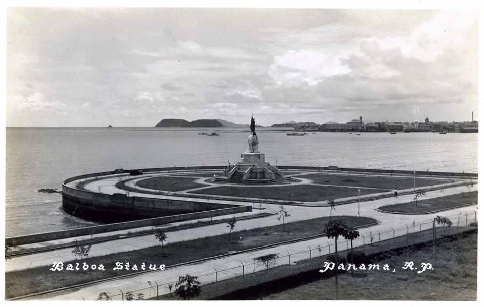 Balboa Statue Panamá, R. P. Década de 1930